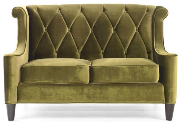 modern green velvet love seat victorian loveseats by. Black Bedroom Furniture Sets. Home Design Ideas