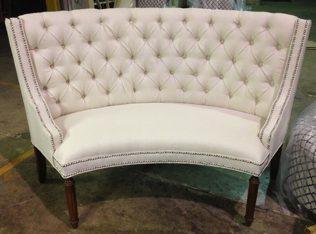 Custom Round Tufted Banquette Transitional Dining Benches Houston By Maximum Furniture