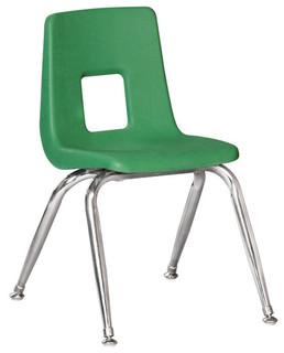 100 Series Preschool Chair With Chrome Legs Contemporary