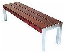 Etra Wide Garden Bench By Modern Outdoor Modern Garden Benches
