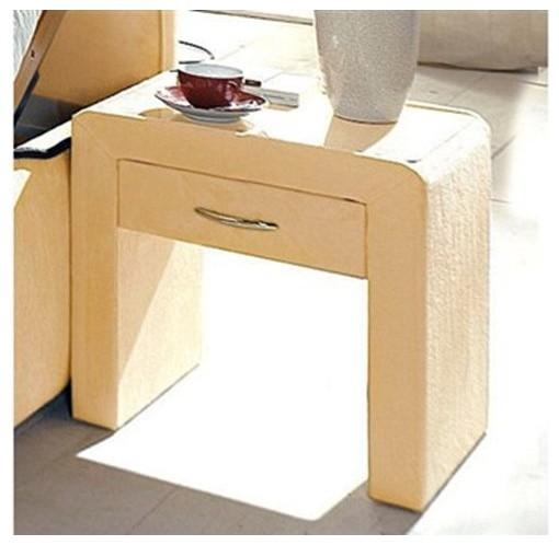 table de chevet 1 tiroir aspect velours contemporain table de chevet et table de nuit par. Black Bedroom Furniture Sets. Home Design Ideas