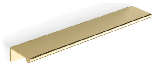"""DP3 Series - 8"""" Tab Drawer Pull in Polished Brass - Contemporary - Cabinet And Drawer Handle ..."""