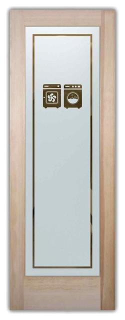 Sans Soucie Art Glass Plain Frosted Glass Door Laundry