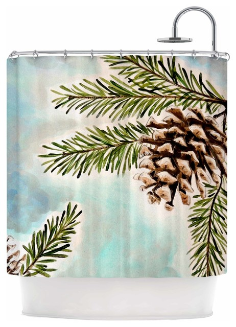 """... Sky"""" Blue Brown Shower Curtain - Shower Curtains - by KESS Global Inc"""