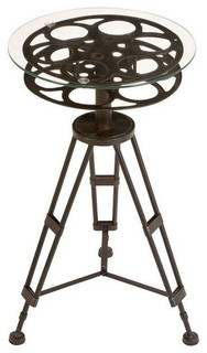 Film Reel Metal Tripod Table