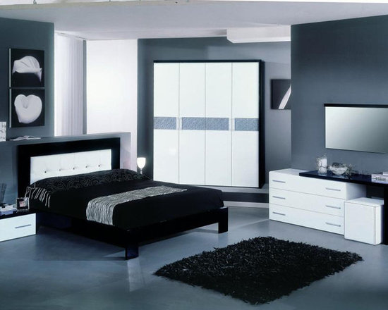 Made In Italy Leather High End Bedroom Furniture Italian