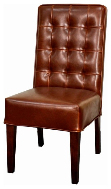 Texas Genuine Split Leather Chair Sienna Set Of 2 Traditional Dining Ch