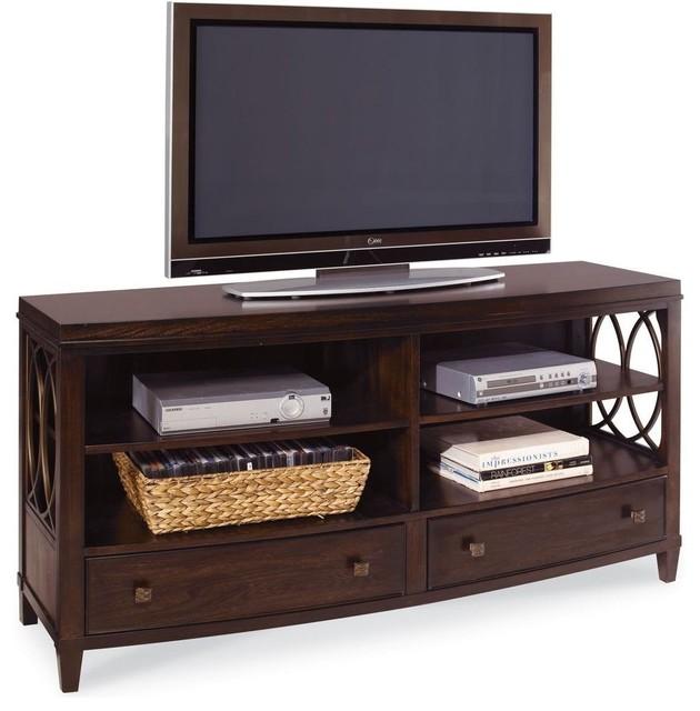A R T Furniture Intrigue Plasma Console Transitional Storage Cabinets By Carolina Rustica