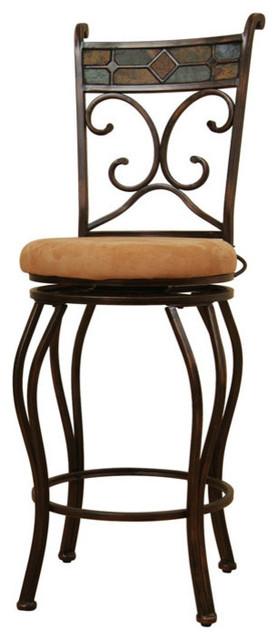 Boraam Beau Swivel Stool BlackGold 24quot Traditional  : traditional bar stools and counter stools from www.houzz.com size 278 x 640 jpeg 41kB
