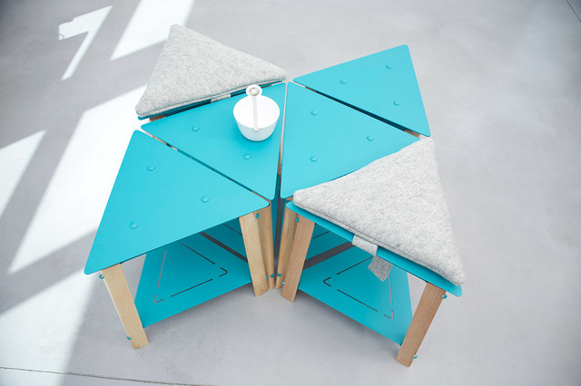 Equilateral modern coffee tables other metro by for Design couchtisch fabric