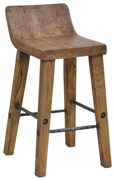 Tam 24 Inch Low Back Counter Stool Modern Bar Stools