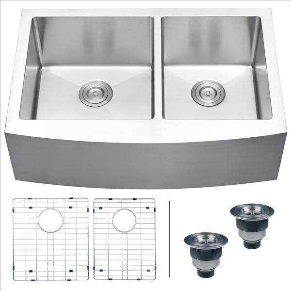 Ruvati RVH9201 Apron Front Kitchen Sink Contemporary Kitchen Sinks By P