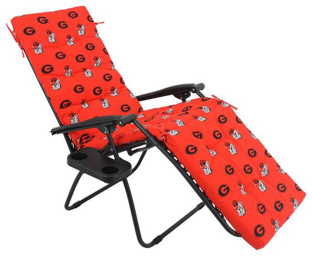 Georgia bulldogs zero gravity chair cushion 20x72x2 for Chaise zero gravite