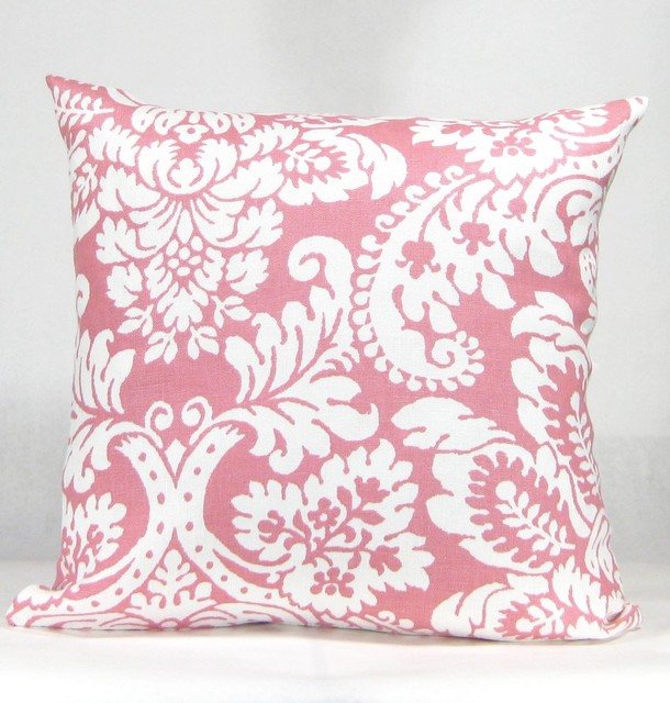 Large Flower Throw Pillow : Belle Large Floral Throw Pillow - Pink
