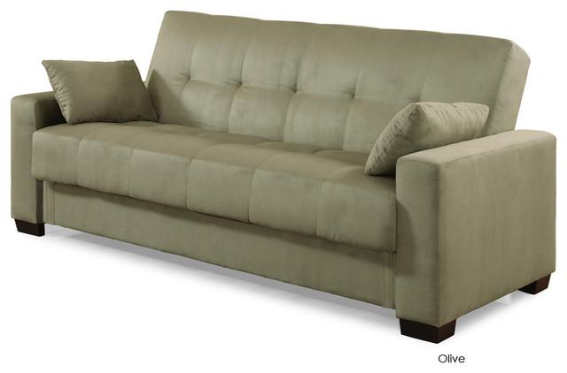 Napa Convertible Sofa Bed Olive Modern Futons