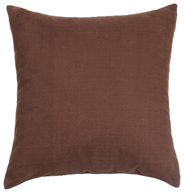 Solid Decorative Throw Pillows : Solid Dark Brown Accent, Throw Pillow Cover , 16