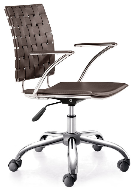 criss cross office chair espresso modern b rost hle. Black Bedroom Furniture Sets. Home Design Ideas