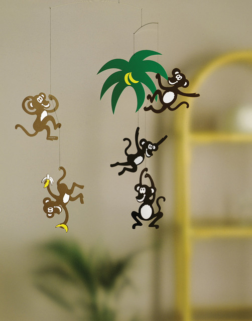 flensted mobiles monkey tree modern baby mobiles. Black Bedroom Furniture Sets. Home Design Ideas