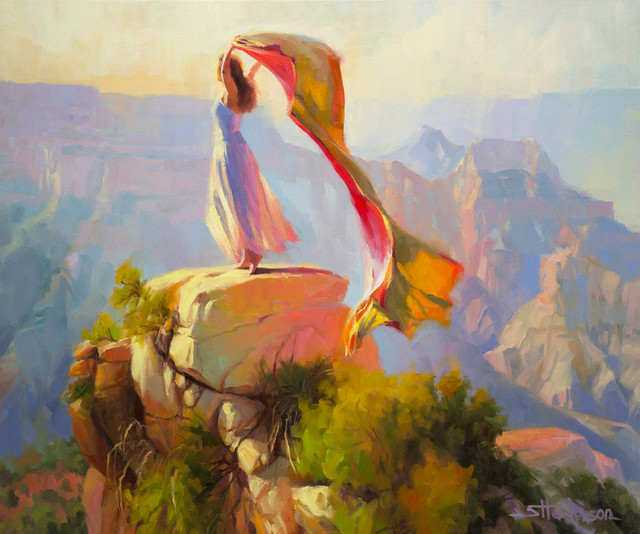 Spirit Of The Canyon Artwork Original Oil Painting