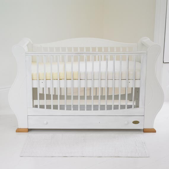 Louis White Sleigh Cot Bed - Traditional - Cots, Cribs and ...