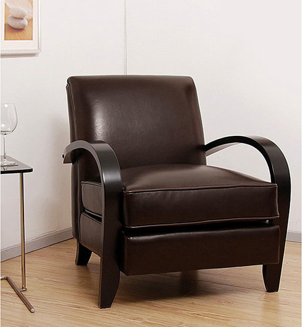 Bloomington Dark Brown Leather Chair Contemporary