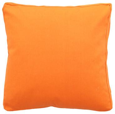 Modern Throw Pillows Orange : Orange Smooth Pillow - Modern - Decorative Pillows - by Urban Home