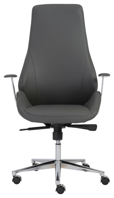 back office chair gray aluminum modern office chairs by inmod