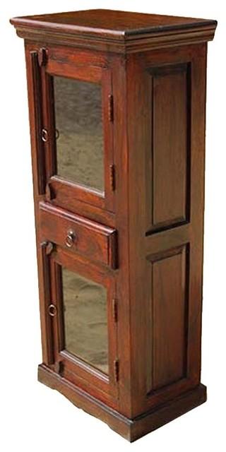 Wood corner armoire hutch storage cabinet bedroom