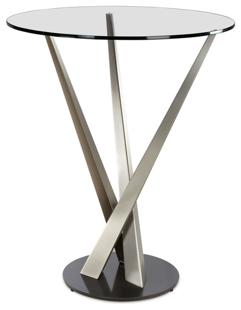 Elite Modern Crystal Pub Table, Lava Base contemporary-indoor-pub-and ...