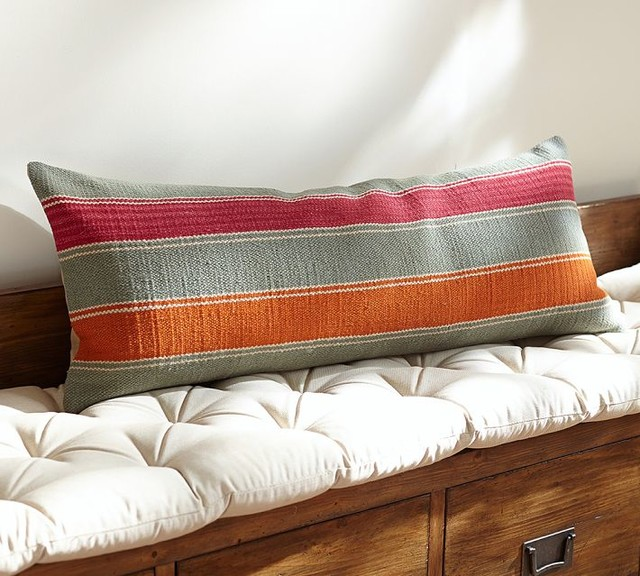 Long Decorative Lumbar Pillow : Cheyenne Kilim Long Lumbar Pillow Cover - Contemporary - Decorative Pillows - by Pottery Barn