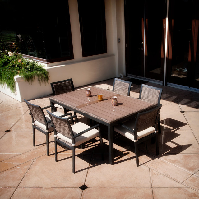 Zen™ 7 Piece Outdoor Dining Set Outdoor Dining Sets salt lake city by R