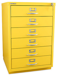 Bisley 6-Drawer Classic Front Filing Cabinet - Contemporary - Filing ...