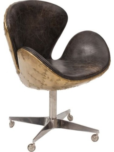 Devon Desk Leather Chair Eclectic Office Chairs By