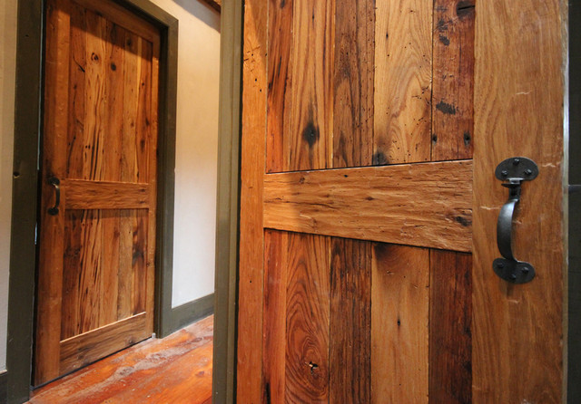 Custom rustic doors reclaimed wood interior doors in oak for Recycled interior doors