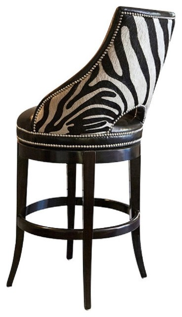 Ambella Home Collection Zebrano Swivel Barstool