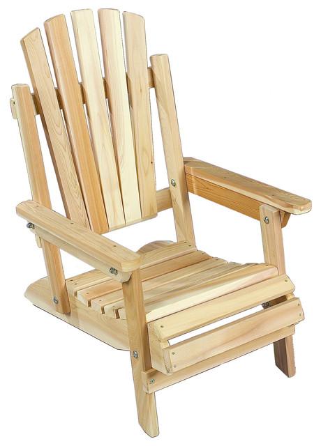Rustic natural cedar 040404j adirondack jr chair beach - Adirondack style bedroom furniture ...