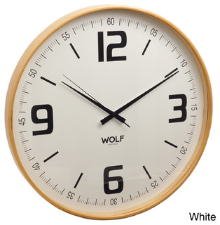 wolf moderne 21 inch wall clock contemporary wall