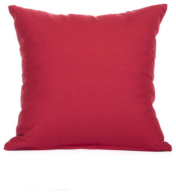 Solid Red Accent, Throw Pillow Cover, 16