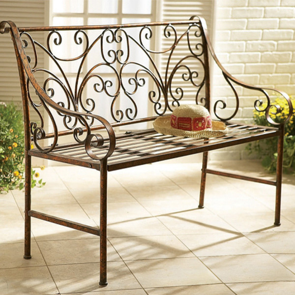 scroll garden bench victorian patio furniture and