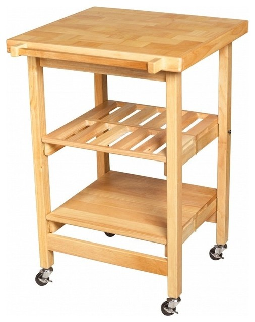 All wood entertainer ii contemporary kitchen islands for All wood kitchen island