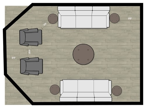Help with odd living room sofa layout designers help me for Odd living room layout