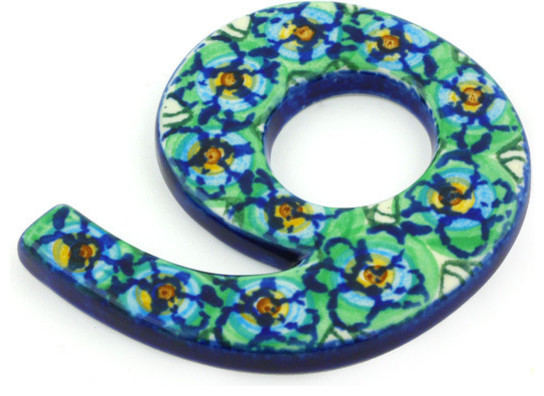 Polmedia polish pottery 4 stoneware number for Mediterranean house numbers
