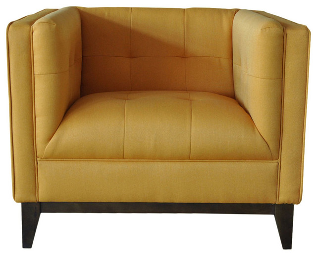 Pancini Club Chair Yellow modern armchairs and accent chairs