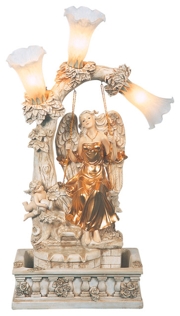 Angel Table Fountain Traditional Indoor Fountains By