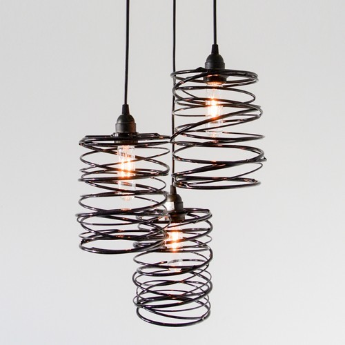 Spiral Nest Cascading 3 Light Chandelier Modern