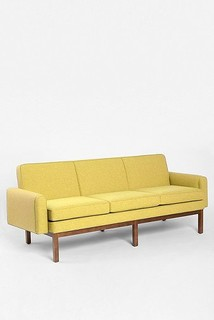 Quincy Sofa, Yellow - Midcentury - Sofas - by Urban Outfitters