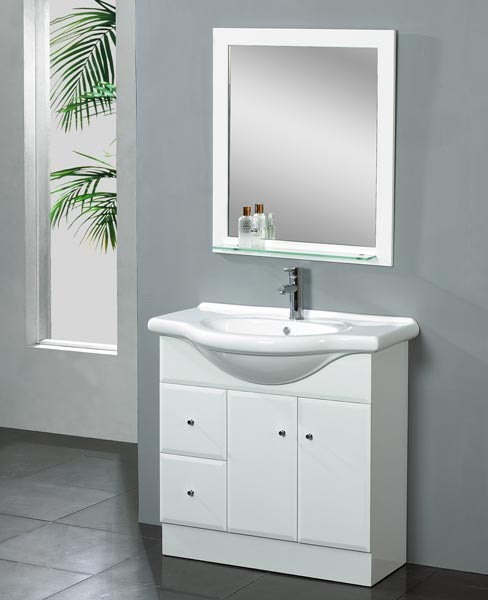 Dreamline eurodesign vanity dlvrb 116 white bathroom vanities and sink consoles new york - Contemporary european designer bathroom vanities ...