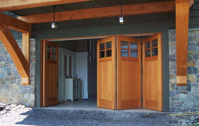 Custom Side Folding Garage Doors - Contemporary - Garage Doors And Openers - New York - by ...