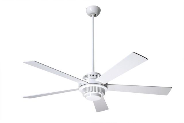 Modern fan company solus gloss white 52 ceiling fan Modern white ceiling fan