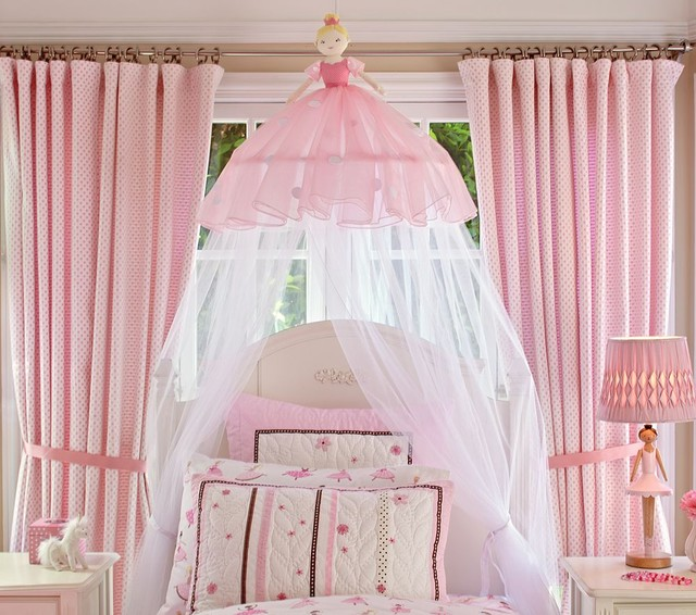 Ballerina Canopy Traditional Kids Bedding By Pottery